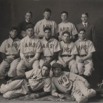 Dwight Eisenhower, top row 2nd from right, Abilene baseball team