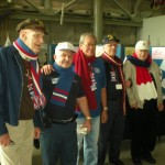 This group was visiting the museum from out of state and all went back north with scarves to keep them warm.