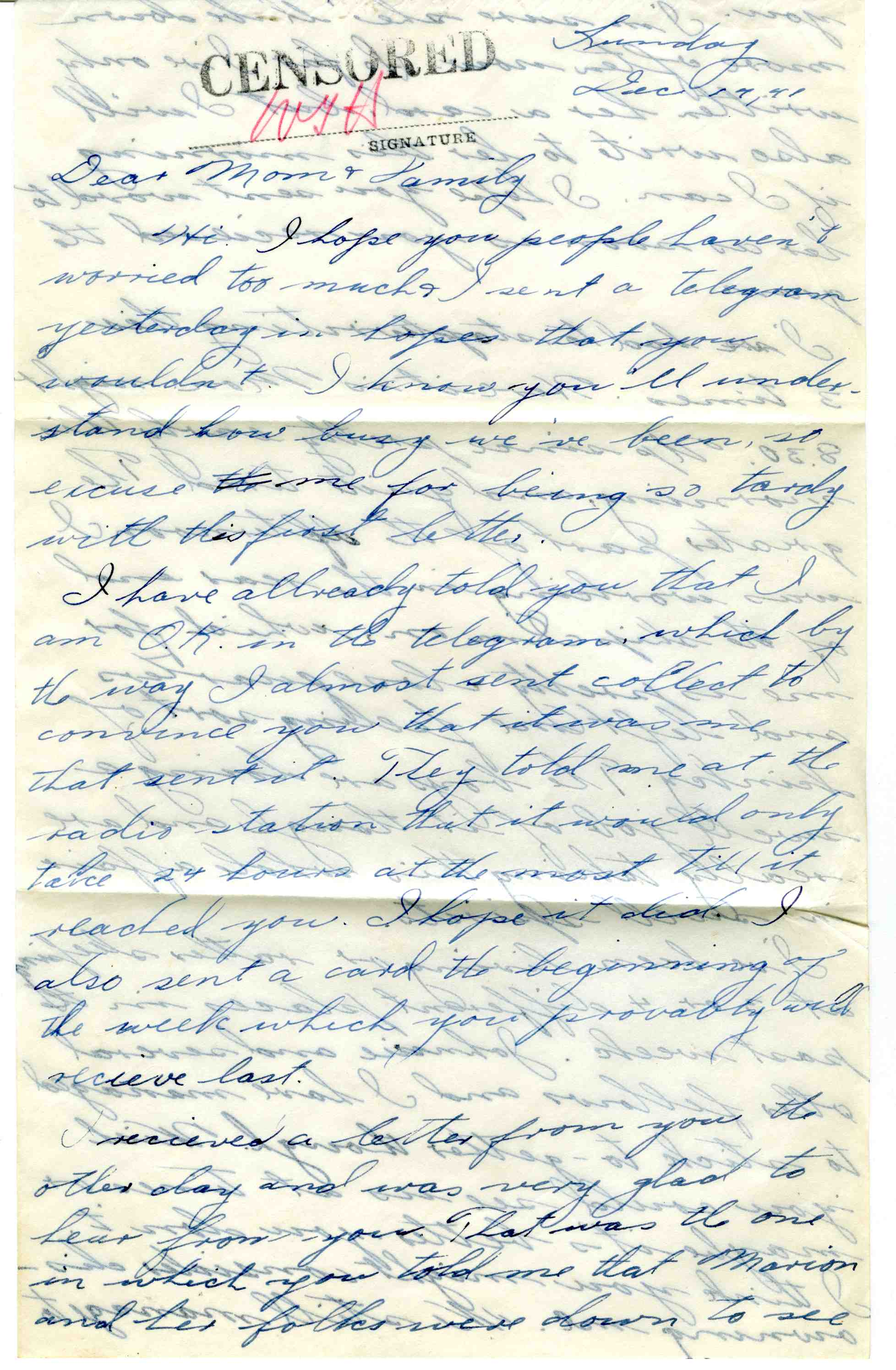 Letters Home – Pearl Harbor | The National WWII Museum Blog
