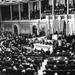 President Franklin D. Roosevelt signs the War Declaration against Japan