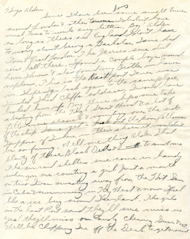 Writing to servicemen