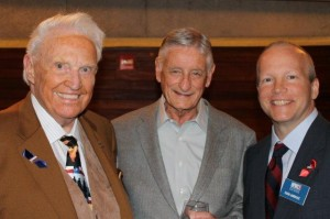 Honorary Chair, Frank Denius, and friends enjoy a wonderful evening at The World War II Museum event at the Violet Crown Theater.