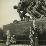 Ceremony at the Marine Corps Monument in Washington, DC on Memorial Day in 1955.