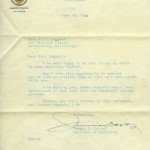 Letter from Jimmie Davis, Governor of Louisiana.