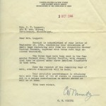 Letter from Admiral Chester Nimitz.