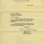 Letter from Col. Lloyd Lehrbas.