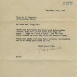 Letter from singer Kate Smith.