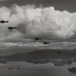 Formation of F6Fs over Japan. Gift In Memory of John Valdemor Peterson, 2011.228