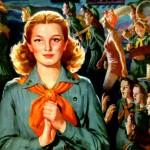 Interior of 1945 Girl Scout Calendar