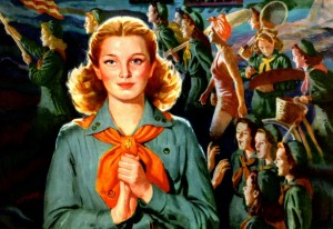 Interior of 1945 Girl Scout Calendar