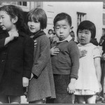 First-graders at the Weill Public School in San Francisco,  April 1942 photograph by Dorothea Lange.