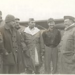 Brazilian Air Minister Filho talks with liaison pilots. Castel di Casio, Italy, 12 December 1944. Gift in Memory of William F. Caddell Sr., 2007.048