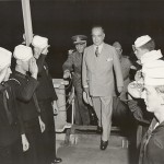 President Vargas inspects ships and troops as the 2nd Brazilian Expeditionary Force embarks. 14 October 1944. Gift of Charles Ives, 2011.102