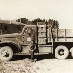 Snyder with his truck, Africa 1944 Gift of Howard M. Snyder, 2012.259