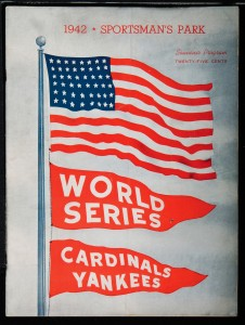 1942 World Series Game 1 Program