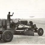 US Navy Seabees build and maintain B-29 base on Tinian. 30 March 1945. Gift of Charles Ives, 2011.102.003