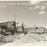 A Superfortress crashed on Saipan in the Marianas. Gift of Elwyn Fink, 2010.216.