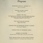 The program shows the schedule of events from the award ceremony.