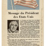 French side of US propaganda leaflet dropped over Oran.