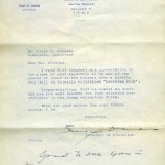 Letter from Sam Jones, Governor of Louisiana, to Billy Michal