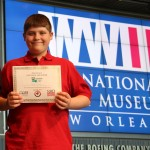 """Aiden Edler's exhibit, """"The Fall of the Berlin Wall & The Decline of the Soviet Empire"""" advanced to the National History Day Contest."""