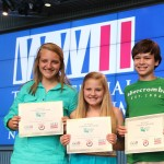 """Brooke Glaser, Riley Bordelon, and Nick Morel won the Junior Group Exhibit Category with their exhibit on the War of 1812 called """"The Forgotten War."""""""