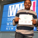 "Lionel Williams captured first place in Senior Individual Paper with ""March on Washington."""
