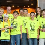 Team Sumo is awarded second place for Robot Performance.  Team members located in Texas, Louisiana, and Mississippi used Skype to work together to build a winning robot.