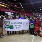 The Awards Ceremony always begins with banners, props and, in the case of Louisiana, a two-legged crawfish