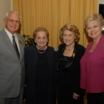 Nick Mueller, Madeleine Albright, Lindy Boggs and Beth Mueller at the 2006 International Conference on WWII