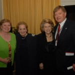 Maureen Detweiler, Madeleine Albright, Lindy Boggs and Bill Detweiler at the 2006 International Conference on WWII
