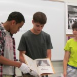 London Westley, Andrew Beam, and Rebekah Bass find evidence of a segregated prom from a 1944 yearbook from Topeka, Kansas.