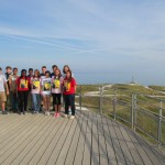 The Normandy Academy visits Pointe du Hoc.