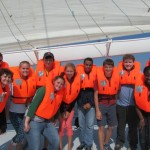 The Normandy Academy aboard the research vessel Etoile Magique in the English Channel.