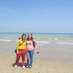 Normandy Academy students pose on Utah Beach