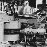 The newly completed 60-inch cyclotron, 1939.  Image courtesy of the National Archives and Records Administration.