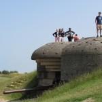 Normandy Academy students explore a German gun battery