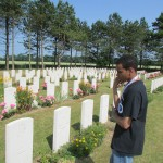 A British Cemetery in Normandy offers a contrast to the style of the American Cemtery.