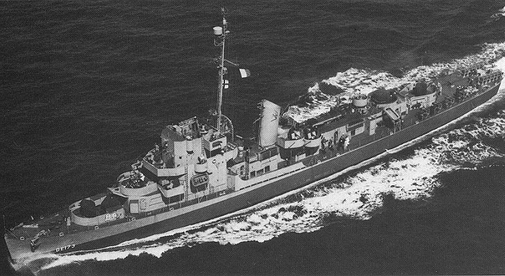 USS Eldridge DE-173 ca. 1944.  Image courtesy of the National Archives and Records Administration.