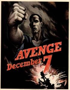 """""""Avenge December 7"""" poster."""