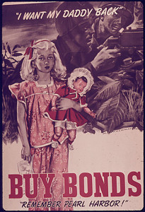 """'I Want My Daddy Back!' Buy Bonds"" poster"