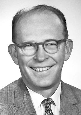 Willard Frank Libby. Image courtesy of the Nobel Foundation.