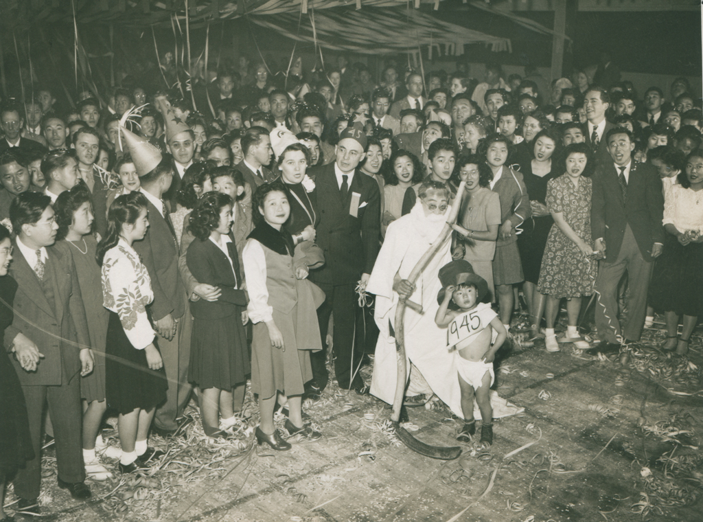 New Year's Eve celebration, Topaz 1945. Courtesy of the National Archives, 210-G-4H590