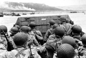 D-Day troops preparing for landing. Courtesy of the National Archives and Records Administration.