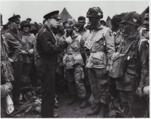 Eisenhower talking with Paratroopers from the 101st before the Invasion of Normandy