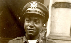 Picture of First Lt. Vernon Baker. Baker was one of only seven African Americans to receive the Medal of Honor for their WWII service.