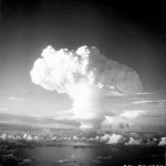 The mushroom cloud rises from the first test of a thermonuclear weapon at Eniwetok on November 1, 1952. Image courtesy of the National Nuclear Security Administration.