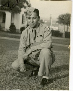 Jimmy Kanaya in his Army uniform, 1940s. Courtesy of