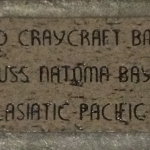 Everett D. Craycraft's brick on our Road to Victory located in the atrium of the Museum's Louisiana Memorial Pavilion.