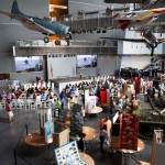 Exhibits and preparation for the Award Ceremony in the US Freedom Pavilion: The Boeing Center
